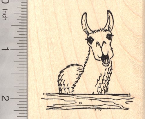 Drama Llama Rubber Stamp, Clucking with Attitude