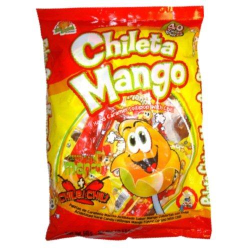 El Azteca Chileta Mango, 40-Count Candies (Pack of 4)