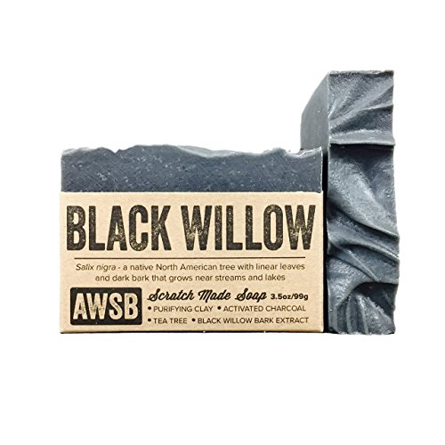 A Wild Soap Bar, Soap Bar Black Willow Bark, 3.5 Ounce