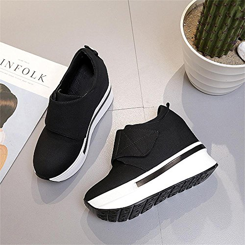 Hiking Platform 2 Female Outdoor Black Women Soles Shoes Running Fashion Grey Thick Black Sneakers Casual Wedges Shoe 5pxUv