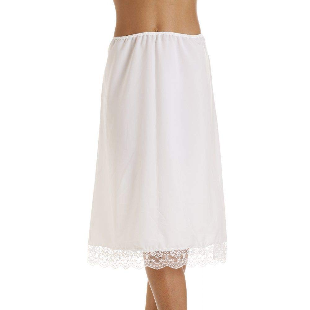 Store line Pack of 2 Womens BHS White Polycotton Half Waist Slip with Broderie Anglaise Trim