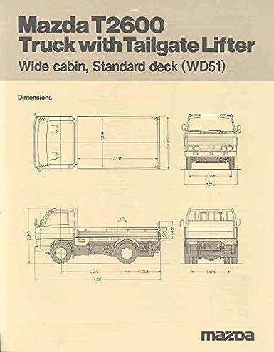 Amazon com: 1980 Mazda T2600 T3500 T4100 Truck Brochure