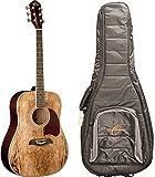 Oscar Schmidt OG2SM Acoustic Guitar - Spalted Maple - FREE Gig Bag