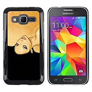 Be Good Phone Accessory // Dura Cáscara cubierta Protectora Caso Carcasa Funda de Protección para Samsung Galaxy Core Prime SM-G360 // golden brown black woman fashion hair