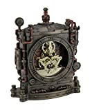 Resin Mantel Clocks The Grand Machine Steampunk Style Bronze Finished Mantel Clock 6.5 X 7.75 X 2.25 Inches Bronze