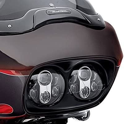"Funlove Chrome Daymaker Dual 5.75"" LED Headlight for Harley Davidson Road Glide"