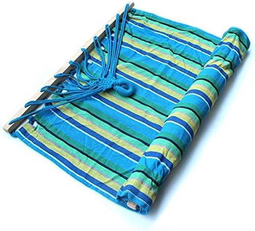 LSXUE Camping Hammock-Portable-Outdoor, Escursionismo, Backpacking, Viaggiare, Beach, Garden-200cm (6.6 Piedi) x80cm (2.6 Piedi) -Sky Blue