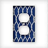 nautical wall covers - Nautical Rope - AC Outlet Decor Wall Plate Cover Metal