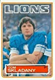Tom Skladany autographed football card (Detroit Lions) 1983 Topps #71 ballpoint pen
