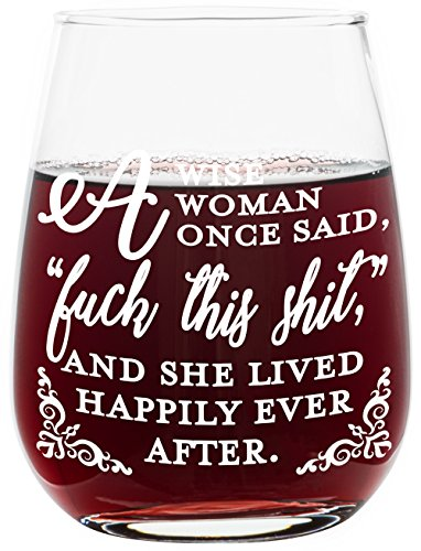 Merlot Wine Club - Funny Stemless Wine Glass - A Wise Woman Once Said. - Makes a Great Gift!