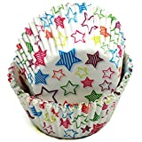 Chef Craft 50 Count Cupcake Liners, One Size, Blue/Pink/Green/Orange