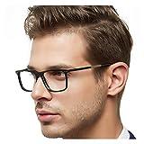 OCCI CHIARI Optical Eyewear Non-prescription Eyeglasses Frame Clear Lenses For Men(Black 53mm)
