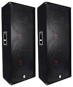"""(2) Rockville RSG15.24 Dual 15"""" 3000 Watt 3-Way 4-Ohm Passive DJ / PA Speaker from Rockville"""