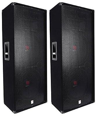 (2) Rockville RSG15.24 Dual 15 3000 Watt 3-Way 4-Ohm Passive DJ/PA Speaker Reviews