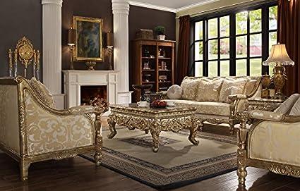 Amazon Com Inland Empire Furniture Goldina Formal Gold Wood Trim