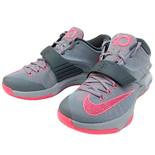 nike KD VII mens basketball trainers 653996 sneakers shoes kevin durant (uk 9 us 10 eu 44, magnet grey hyper punch light magnet grey 060)