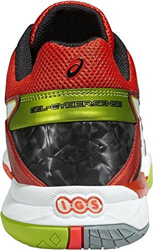 Asics GEL-SENSEI 6 Voleibol zapatillas hombres CHERRY TOMATO / WHITE / BLACK