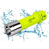 OxyLED 500 Lumen LED Submarine Waterproof Diving Flashlight, Yellow