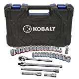 Kobalt 33-Piece Standard (SAE) and Metric Mechanic's Tool Set with Hard Case