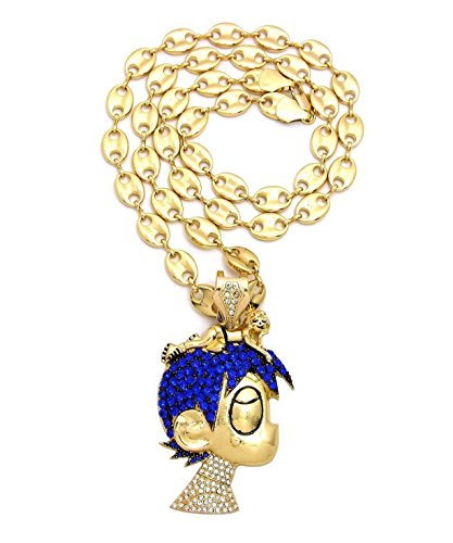 ICED OUT PAVE LIL UZI VERT CARTOON CHARACTER Pendant & 10mm 30
