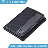 Lewis N. Clark Ballistic Nylon RFID Wallets for Women + Men, Travel Accessories 6 Credit Card Slot ID Sleeve, Trifold Wallet