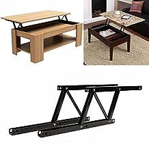 KINGSO 2PCS Folding Lift up Top Table Mechanism Hardware Fitting Hinge Spring Standing Desk Frame