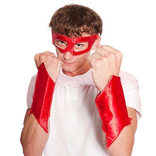 Male Superhero (Everfan Men's Superhero Eye Mask And Powerbands 6