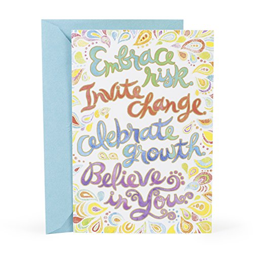 Hallmark Mahogany Birthday Greeting Card (Lettering Swirls Vivid)