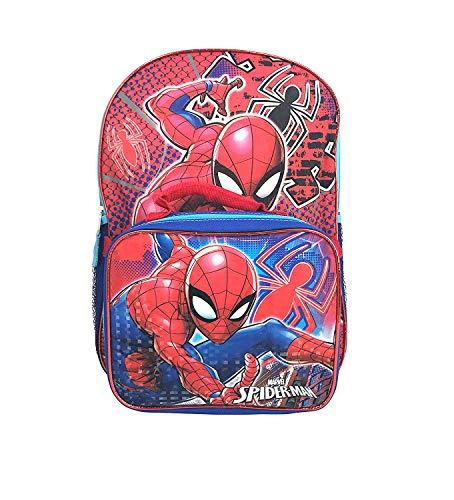 UPD Spiderman Backpack School Bookbag Lunch Box Set