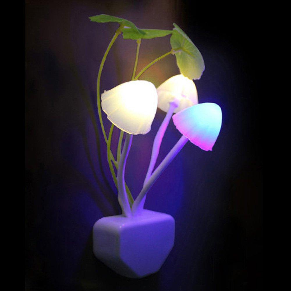 SPHTOEO 1 Piece Romantic LED Mushroom Dream Night Light Bed Lamp