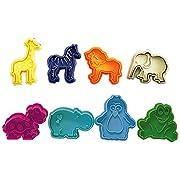 R&M International 0434 Party Animals Pastry/Cookie/Fondant Stamper Set, Assorted Designs, 8-Piece Set