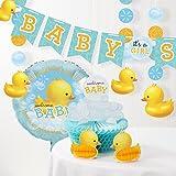 Bubble Bath Rubber Duck Baby Shower Decorations Kit