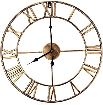 Amazon Com 18 5 Inch Oversized 3d Iron Decorative Wall Clock Retro