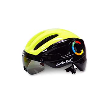 Ciclo Casco con Visera, Bicicleta de montaña y Bicicleta de Carretera Cascos Ligeros Protección de