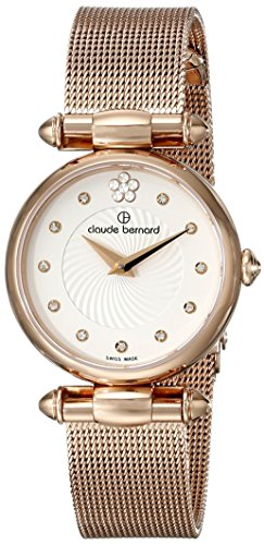 Claude Bernard Women's 20500 37R APR2 Dress Code Analog Display Swiss Quartz Rose Gold Watch