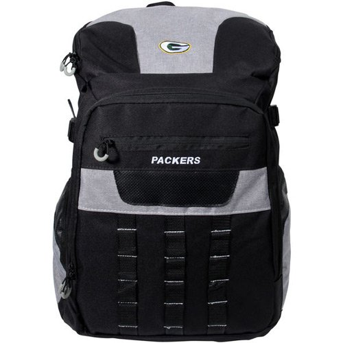 1 PC、Green Bay PackersバックパックFranchiseスタイル、100 %ポリエステル、フロントファスナーポケット、サイドポケットメッシュ&パッド入りBackstraps、トップパッド入りメッシュハンドル、チームロゴ刺繍入り、約18