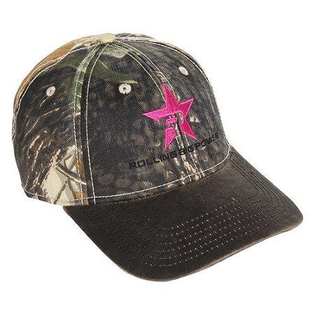 RBP RBP-SB605-CP Camouflage Trucker Hat (Brown Brim Pink Star)