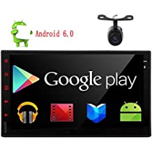 """Eincar New Developed 7"""" Android 6.0 Quad Core HD Capacitive Touch Screen Double 2 Din Car Radio Stereo Support Bluetooth 1080P Mirrorlink Auto GPS Navigation Head Unit Car Stereo Reverse Camera OBD"""