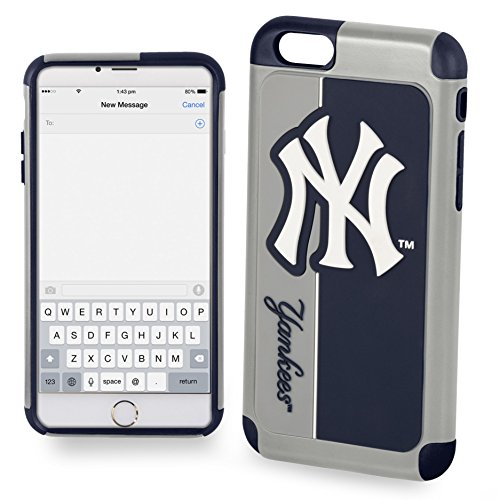 Forever Collectibles IPHNMBEXTPU6LNY Dual Hybrid BOLD Series Case for iPhone 6 Plus/6S Plus,MLB New York Yankees