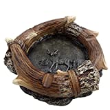 Dickwell Ashtray with Decorative Deer Antler cigar ashtray Cigarettes Outdoor Ashtrays Resin Ashtray for Home/Office