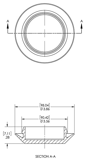 Caplugs 99394371 Plastic Button Plug with Recessed Type Heads PE-LD Black Pack of 200 Hole Size .79-.82 Metal Thickness .02-.07 BP-13//16
