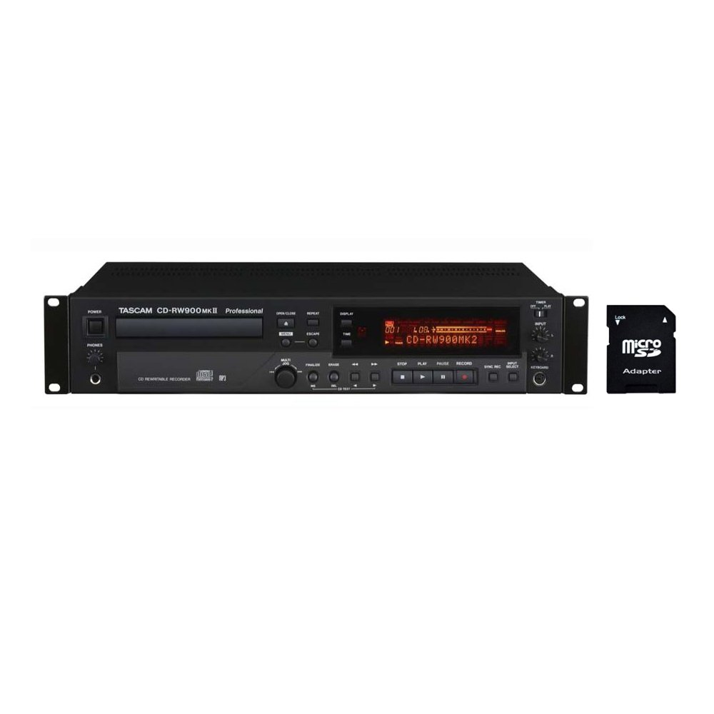 Tascam CD-RW900mkII CD Recorder Player with EV Music 32gb SD Card