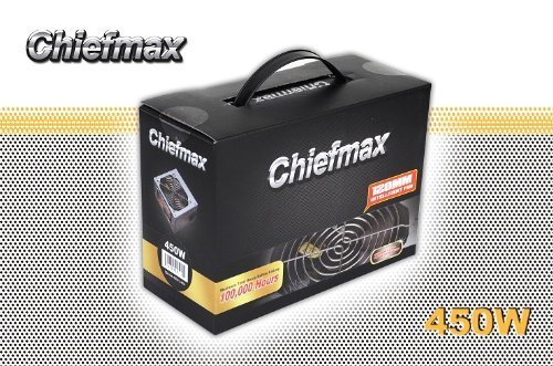 Chiefmax 450W 20/24 Pin ATX Power Supply w/ 4x Serial ATA, and 2x Molex Connectors, 80mm Smart Cooling Fan----10Pack