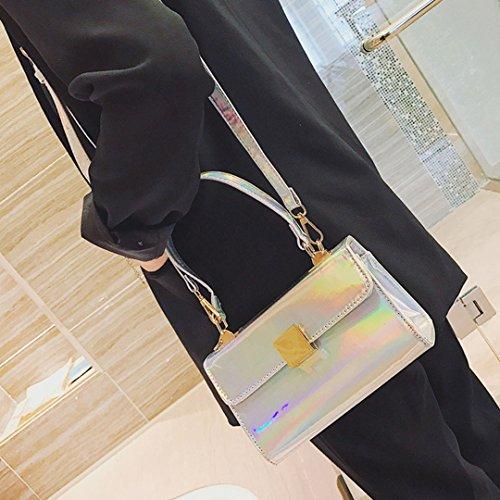 Patent Tote Clutch Women's Ladies Leather Fashion Handbag Silver Designer Shoulder AiSi Bag qw8ECX8