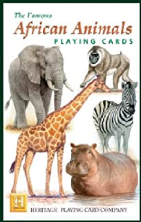 Unique Playing Cards Asian Animals Educational Fun Heritage Playing Cards