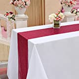 TRLYC 12 by 108-Inch Fushia Pink Sequin Table Runner for Wedding/Party/Christmas Day