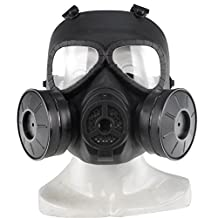 SUNRIS Full Face Skull Mask CS for Outdoor Sports Tactical Paintball Airsoft With Double Filter Fan UV-Proof