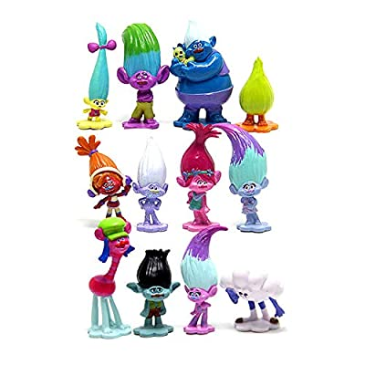 Troll Toys Set of 12,Mini Trolls Figures Poppy Troll Doll for Kids Party Supplies,Poppy and Branch and More: Toys & Games