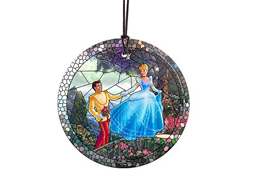 Trend Setters Disney Cinderella Stained Glass Effect Starfire Prints Hanging Glass]()