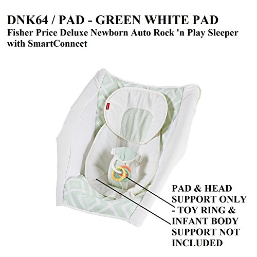 Replacement Pad for Fisher Price Rock N Play Sleeper Green White (Model DNK64)